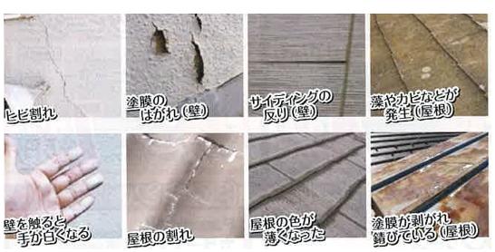 屋根と外壁の劣化